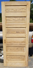 "32"" x 79"" x 1 3/8"" thick raised six panel pine door"