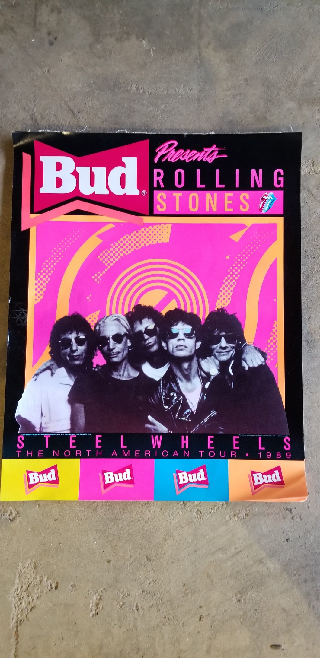 Rolling Stones Steel Wheels 1989 tour poster