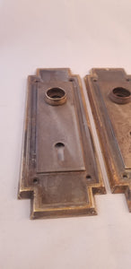 Craftsman door knob escutcheons pair