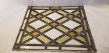 Leaded glass window craftsman diamond pattern