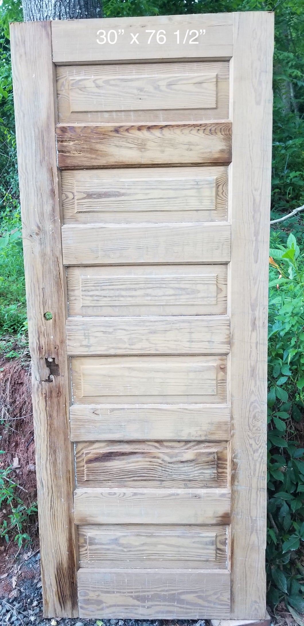 "30"" x 76 1/2"" Raised 6 panel pine door"