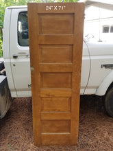 "24"" x 71"" Raised 5 panel pine door"