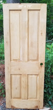 "30"" x 78"" Raised panel pine farm house style door"