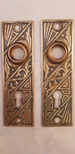 Eastlake brass escutcheons pair