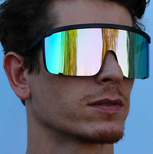 Oversized 90's Retro Visor Sunglasses