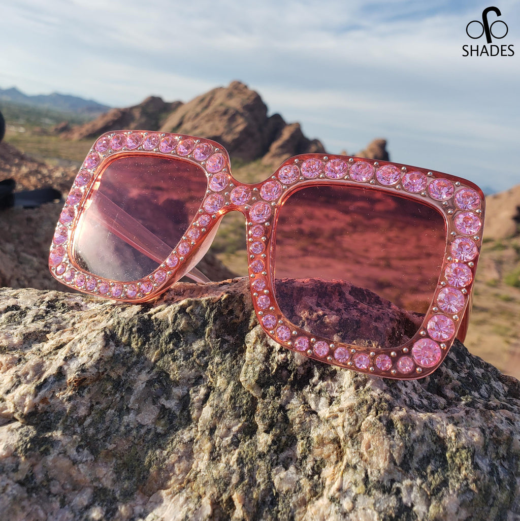 Pink Diamond Square Woman Sunglasses