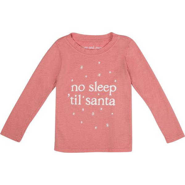 no sleep 'til santa long sleeve t-shirt