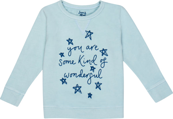 you are some kind of wonderful kid's crewneck sweater