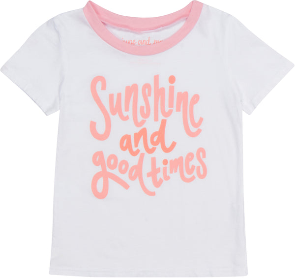 Sunshine And Good Times Ringer Tee