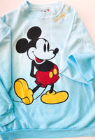 Adult Large One-of-a-kind vintage Mickey sweatshirt in faded blue