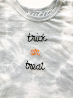 Women's Trick Or Treat Grey Tie Dye Tee