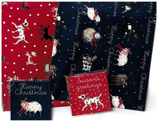 Gift Wrap - Festive Animals