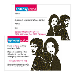 Epilepsy ID card for teenagers