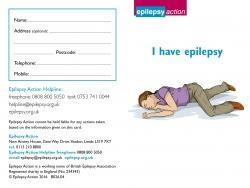 Epilepsy ID card (multiple for handing out)