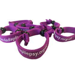 Fabric Purple Day wristband - small/medium (new for 2020)