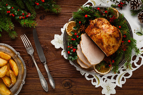 Traditional Irish Christmas Dinner.Free Range Ham Produced By Pheasants Hill Farm Delivery
