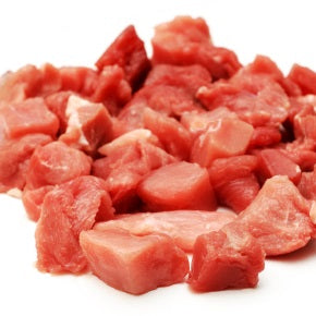 Free range, rare breed Tamworth pork casserole cubes