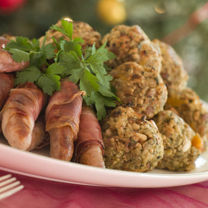 Free range, Tamworth pork and chestnut stuffing