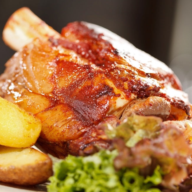 Pork, Free range pork knuckle