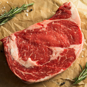 Grass fed beef rib eye thick cut sharing steak (450 g)