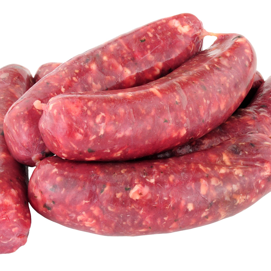 Venison, Wild venison and redcurrant sausages, additive free and gluten free