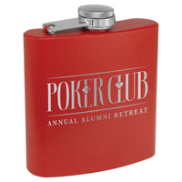 6 oz. Powder Coated Stainless Steel Flask (Personalized)