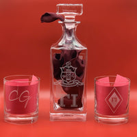 Customized Four Glass Decanter Set