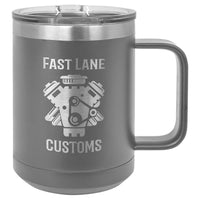 15 oz. Coffee Mug Insulated  with Slider Lid (Personalized Engraving)