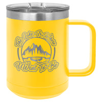 Masonic Designs 15 oz. Coffee Mug Insulated  with Slider Lid (Personalized Engraving)