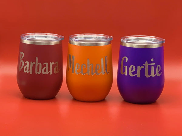 12 oz. Polar Camel Stemless Wine Tumblers (Personalized Engraving)
