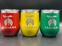 Masonic Designs 12 oz. Polar Camel Stemless Wine Tumblers (Personalized Engraving)