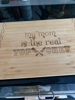 "18 1/4"" x 12 Bamboo Cutting Board with Butcher Block Inlay"