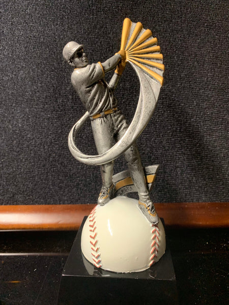 "In Motion 8 1/2"" Baseball Trophy"