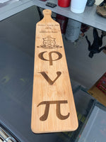 "4"" x 22"" Bamboo Paddle for Commemoration of Achievement"