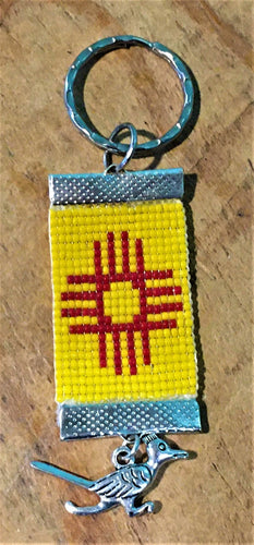 Beaded Zia Keyring