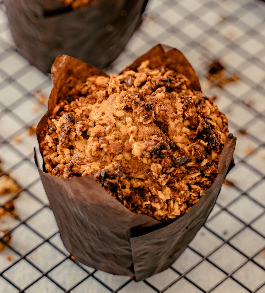 BANANA AND WALNUT CRUMBLE MUFFIN (GLUTEN FREE)