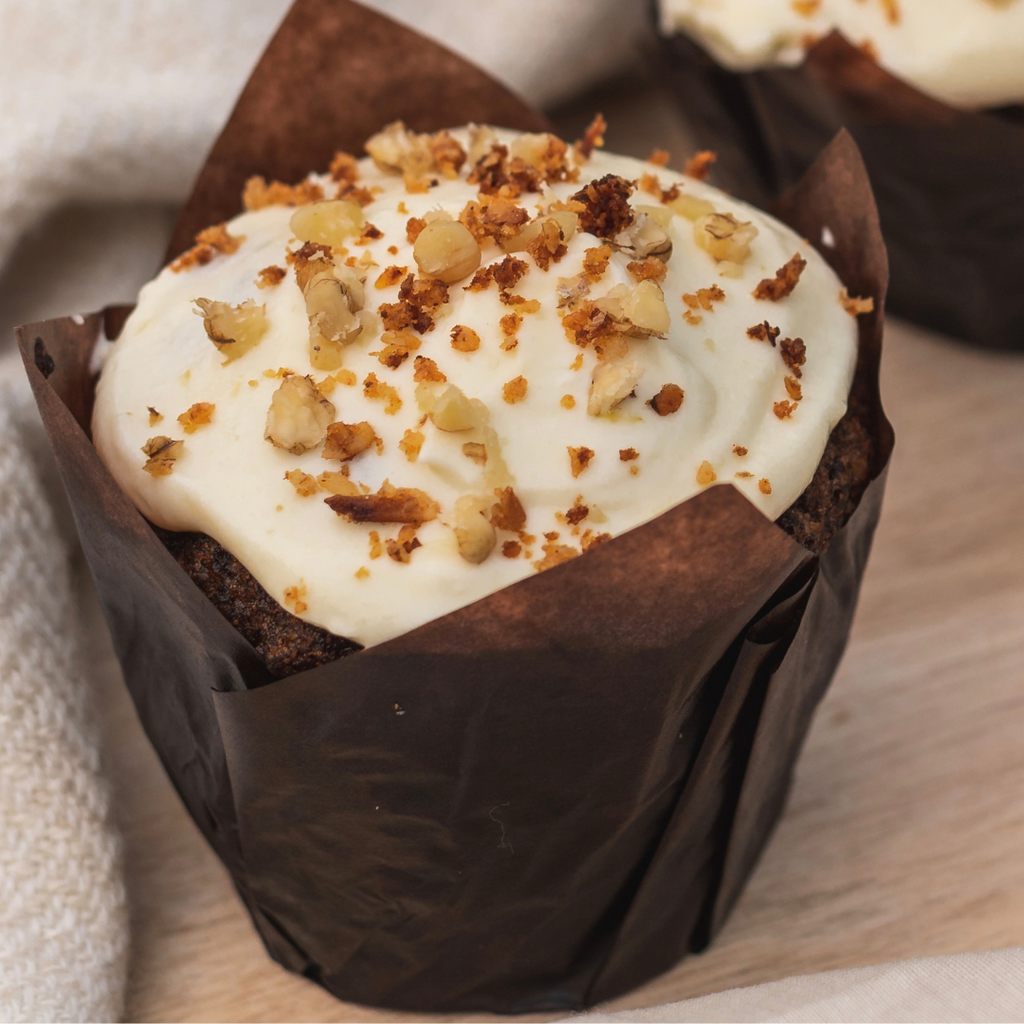 CARROT CAKE AND CREAM CHEESE FROSTING MUFFIN