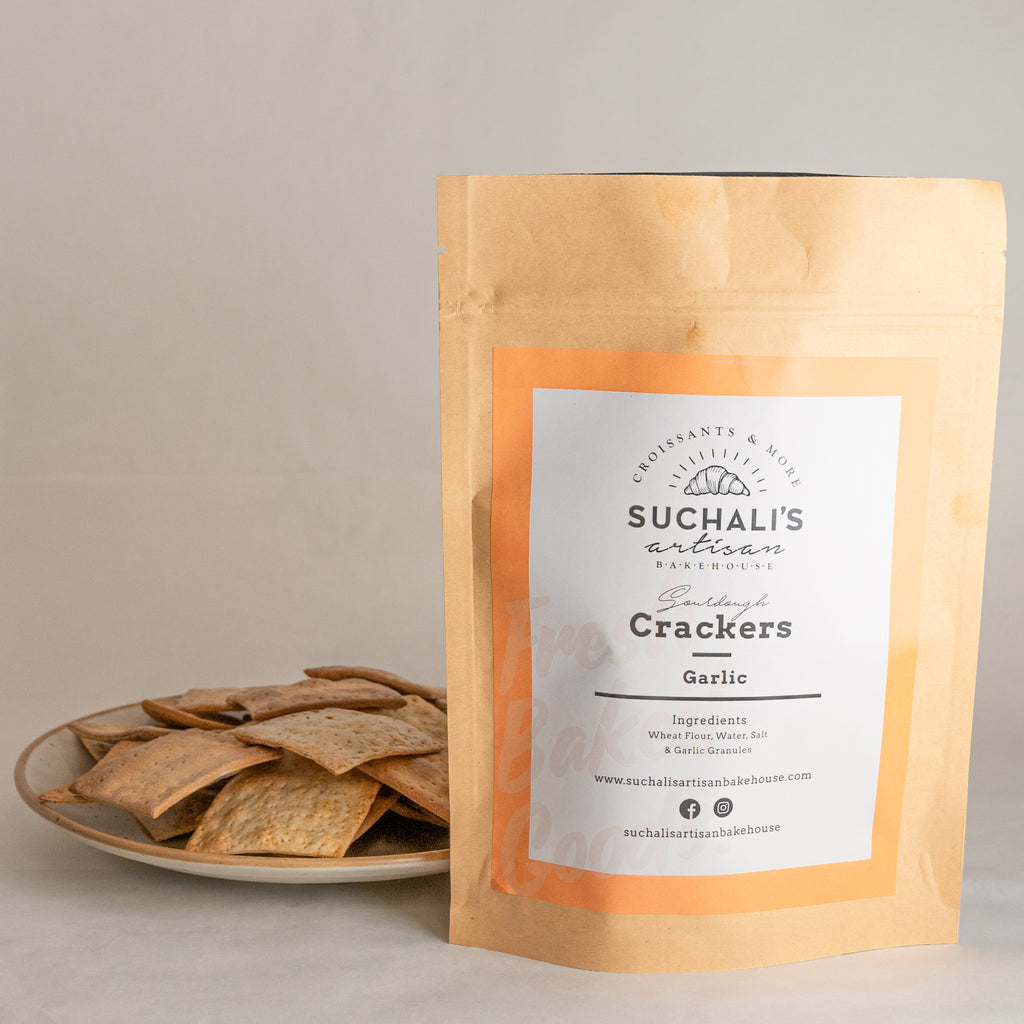 Sourdough Crackers GARLIC