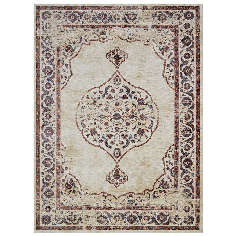 "Abstract Rugs/Contemporary Oriental|Persian Vintage Area Rugs-Pear/Multi Color (7'9"" x 10')"