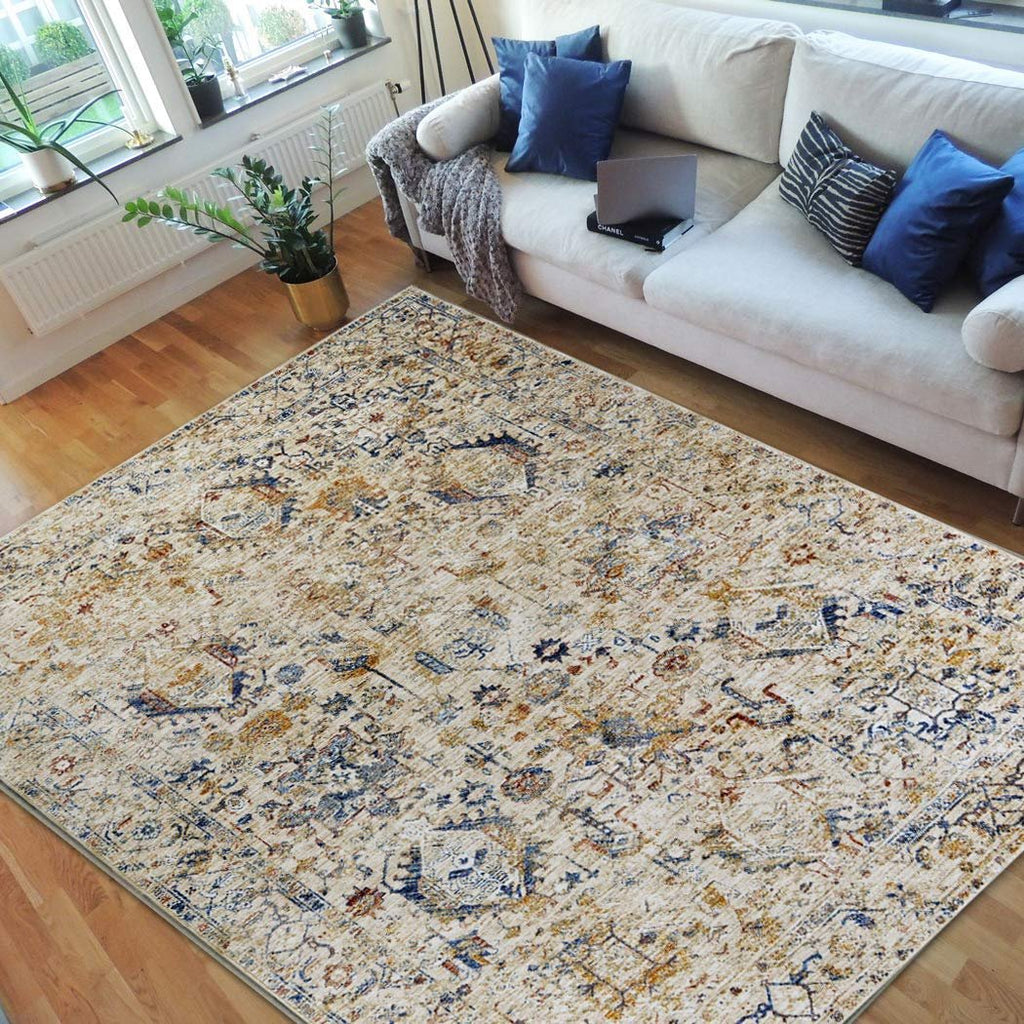 HR-Persian Rugs/Bijar Pattern/Fashion Home Modern Vintage Rugs-Faded Beige