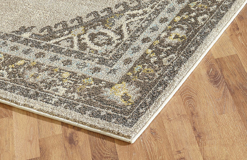 Faded Oriental Distressed Modern Vintage Design Persian Area Rug Ivory/Beige/Brown
