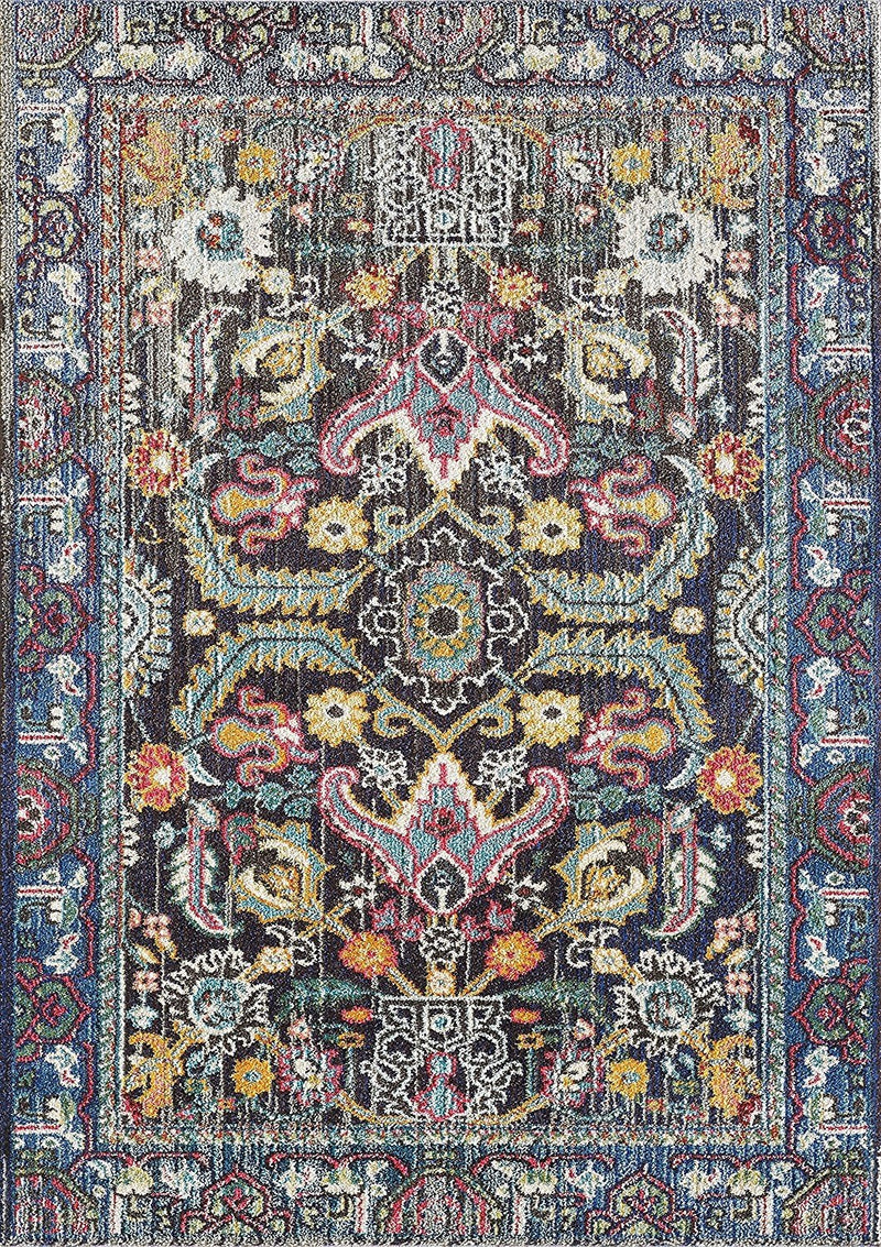 Faded Distressed Kashan Vintage Persian Area Rug Multi Color