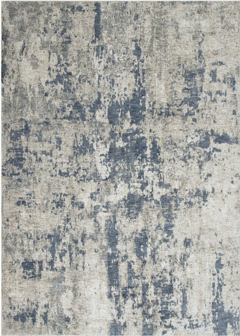 Abstract Rugs/Luxury Living room/Fashion Home Modern-Blue/Ivory/Beige