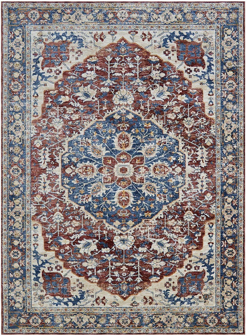 Vintage Rugs/Contemporary Persian Area Rugs-Distressed Copper/Multi (5'x7')