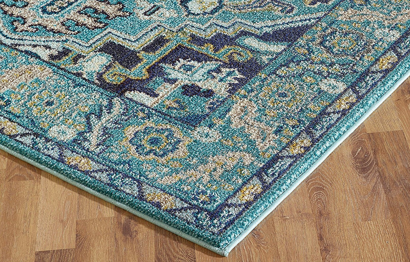 Handcraft Rugs Modern Traditional with Unique Colors/ Faded Abstract Contemporary Oriental Persian design Area Rug/ Our Best Seller Rug Collection/Turquoise/Bone Grey/Navy Blue