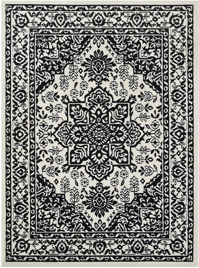 Traditional Rug for Living Room Antiqued Oriental Black and White Area Rug Boho D????cor Rugs for Bedroom