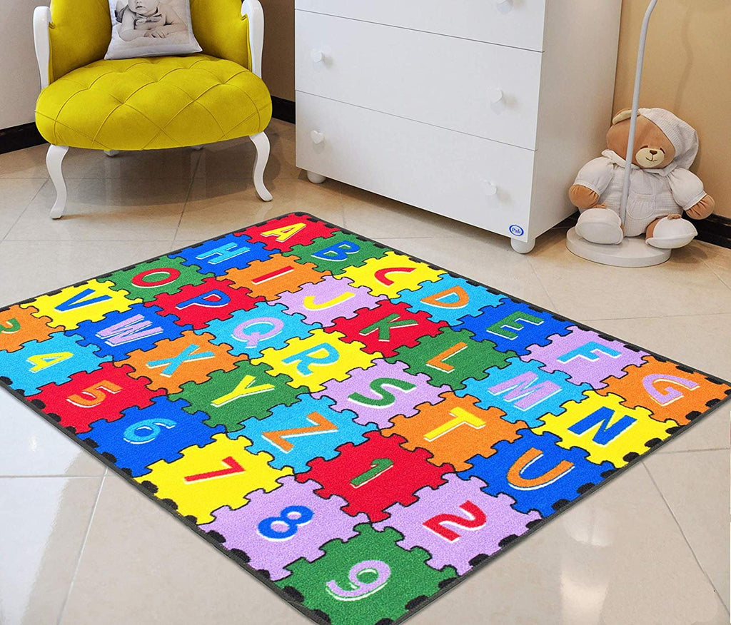 ABC Puzzle Letters/Numbers Kids Educational playmat for School/Daycare/Nursery Non-Slip Gel Back