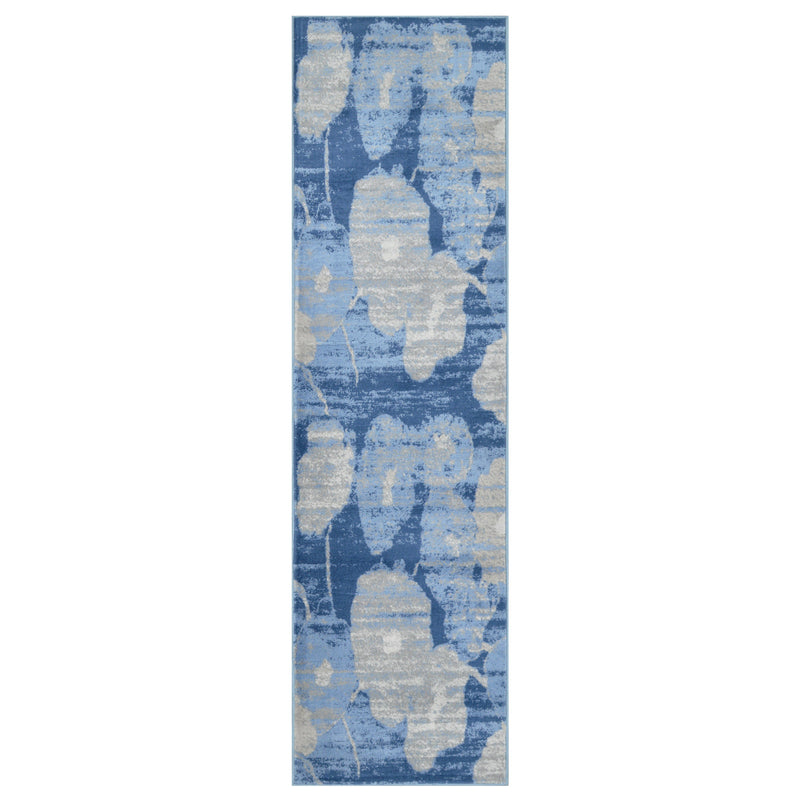 Blossoms Floral Printed Contemporary Sapphire