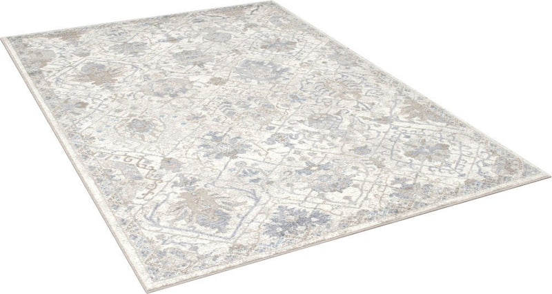 Cream/Gray/Ivory/Beige-Faded, Oriental Distressed