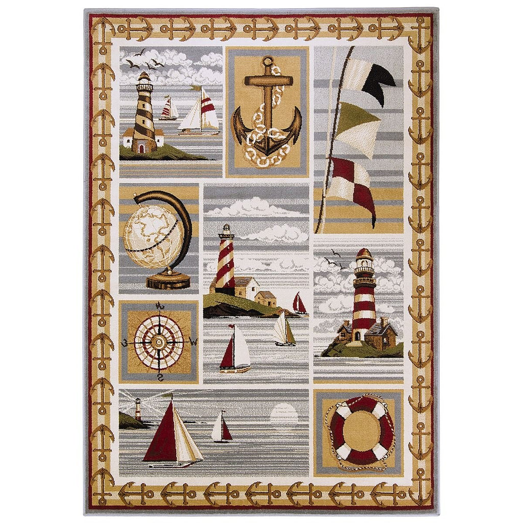 Lighthouse/Anker/Sailing Boats/Compass